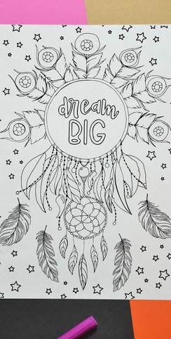 dream big inspirational quote printable