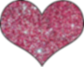 Pink Glittery Heart.png