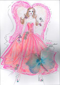 Grande Robe Rose Papillon