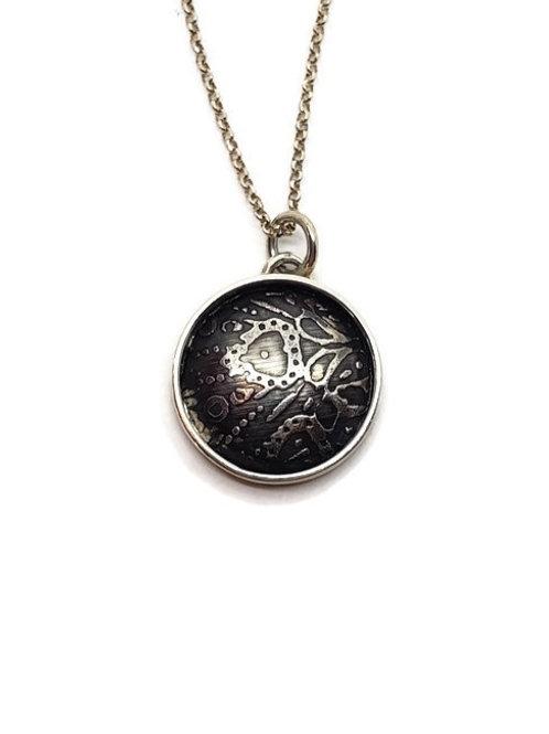Mandala Shadowbox Pendant in Sterling Silver