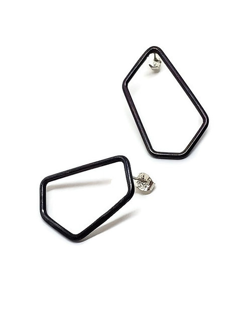 Mismatched Geometric Earrings