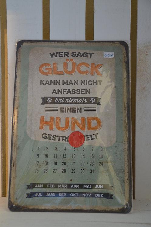 Blechschild-Kalender: Glück anfassen