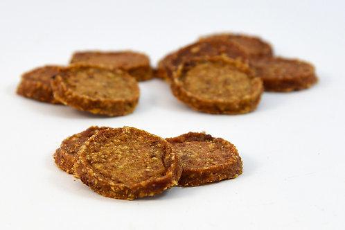 Hähnchenhamburger mit Kürbis, Karotten und Süßkartoffeln 100gr