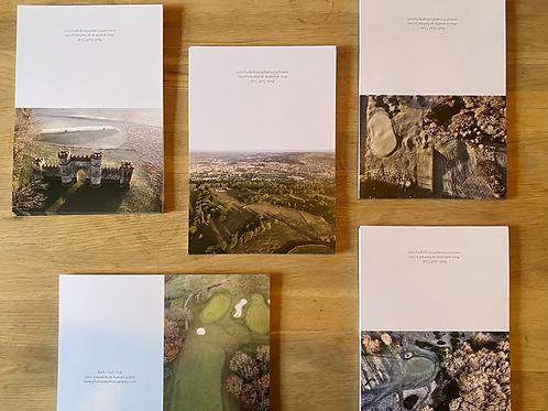 Gift Box of 5 Bath Golf Club Cards & Envelopes