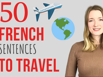 50 French sentences to travel ✈️