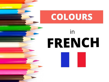 Learn the colours in French
