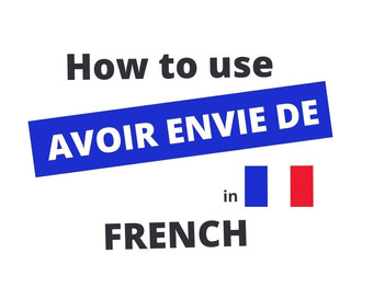 Avoir Envie De - To Want To in French