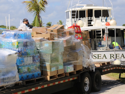 The Sea Reaper Delivers Disaster Relief to the Bahamas