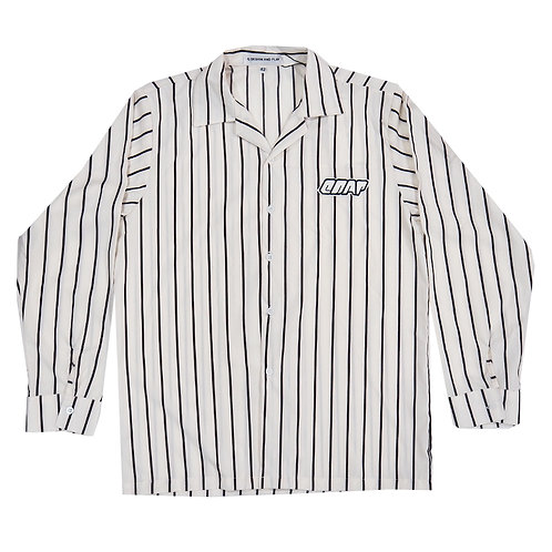 WHITE STRIPES LONG SLEEVE SHIRT