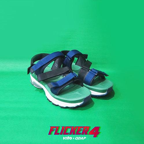 รองเท้า QDAP X KITO รุ่น Flicker Four สีเขียว กรมท่า ดำ