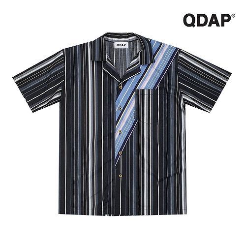BLACK/WHITE STRIPED SHIRT เสื้อเชิ้ต ลายทาง สีดำขาว