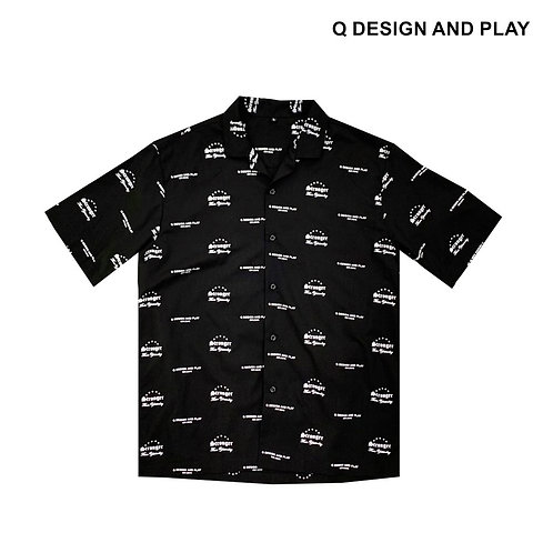 """STY"" BLACK SHORT SLEEVE SHIRT"