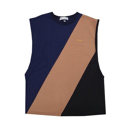 NAVY BEIGE BLACK PANELLED TANK / เสื้อแขนกุด ตัดต่อ สีกรมท่า สีครีม สีดำ