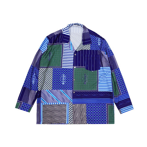 BLUE HANDKERCHIEF LONG SLEEVE SHIRT