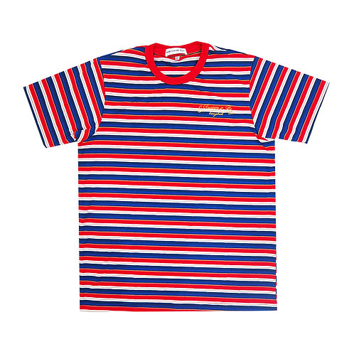BLUE RED STRIPPED TEE