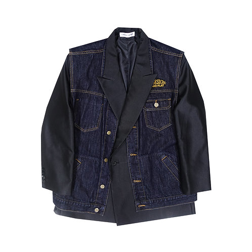 MCxQDAP BLACK HYBRID DENIM BLAZER