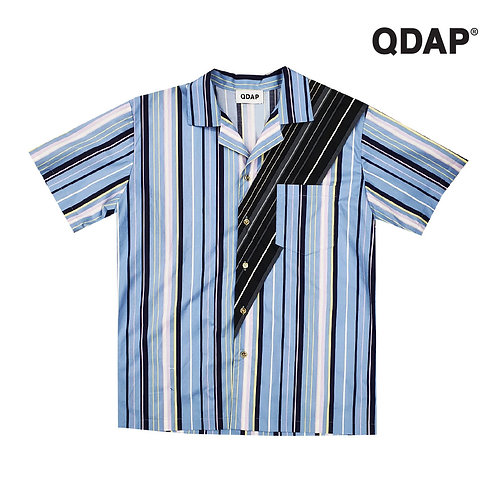 BLUE/WHITE STRIPED SHIRT เสื้อเชิ้ต ลายทาง สีฟ้าขาว
