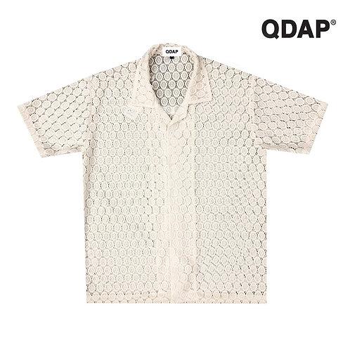WHITE LACE SHIRT / เสื้อเชิ้ต ฮาวาย แขนสั้น ลูกไม้ สีขาว