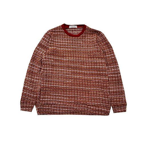 RED, PINK KNITTED SWEATSHIRT / เสื้อยืดแขนยาวผ้าทอสีแดง, สีชมพู