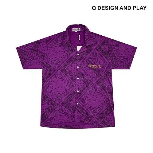 PURPLE PAISLEY SHIRT / เสื้อเชิ้ตลายเพลสลี่สีม่วง
