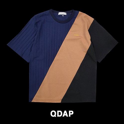 NAVY BEIGE BLACK PANELLED TEE / เสื้อยืด ตัดต่อ สีกรมท่า สีครีม สีดำ