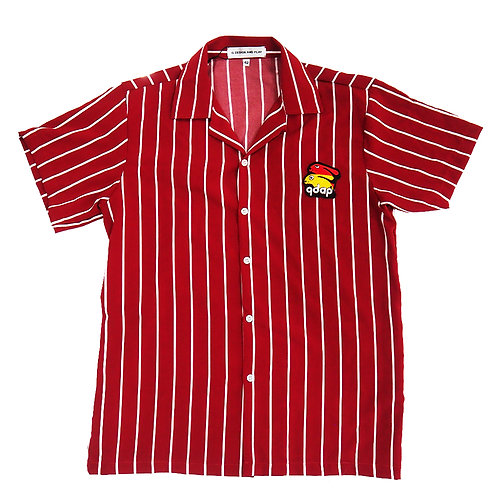 RED STRIPES SHORT SLEEVE SHIRT