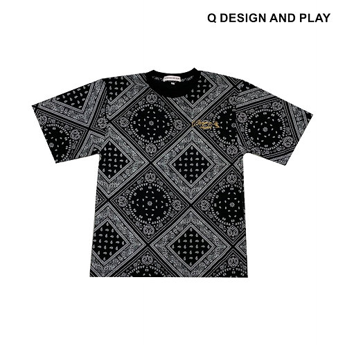 BLACK PAISLEY TEE / เสื้อยืดลายเพลสลี่สีดำ