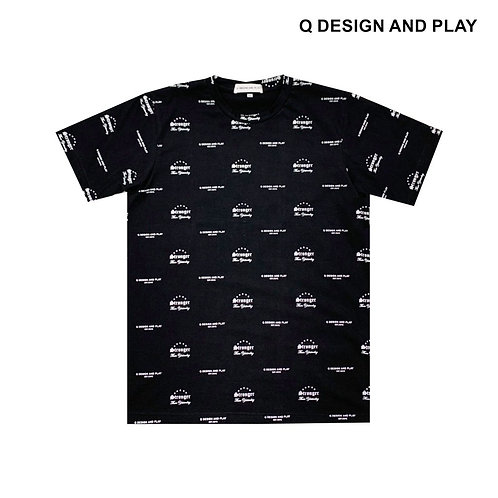 """STY"" BLACK PATTERN TEE"
