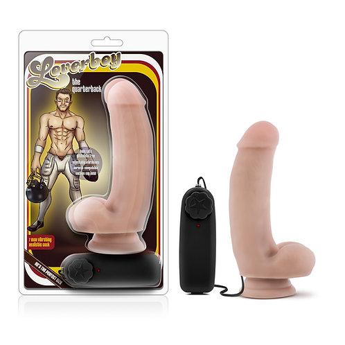Loverboy - The Quarterback - 7 inch Vibrating Realistic Cock - Vanilla