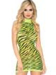 Neon Zebra Racerback Dress - One Size