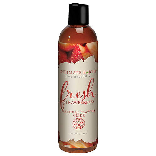 Intimate Earth Natural Flavors Glide - Fresh Strawberries 4oz