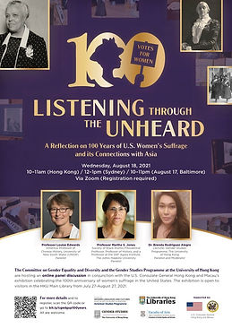 Listening through the Unheard: A Reflection on 100 Years of U.S. Women's Suffrage and its Connections with Asia