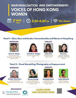 Marginalisation and Empowerment: Voices of Hong Kong Women