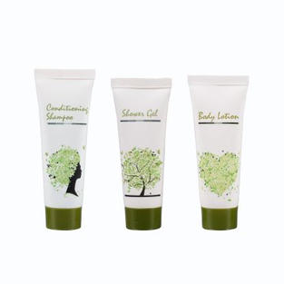 Shampoo, body gel, body lotion
