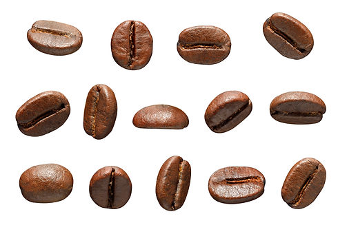 Coffee beans. Isolated on white backgrou