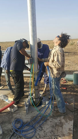 irrigation infra structure installation