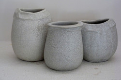 STONEWARE WH CRACKLE