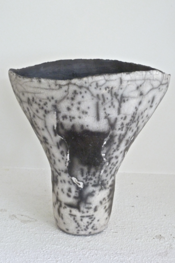 NAKED RAKU FLARED VESSEL