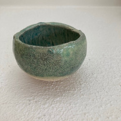 TURQUOISE CRACKLE TEALIGHT