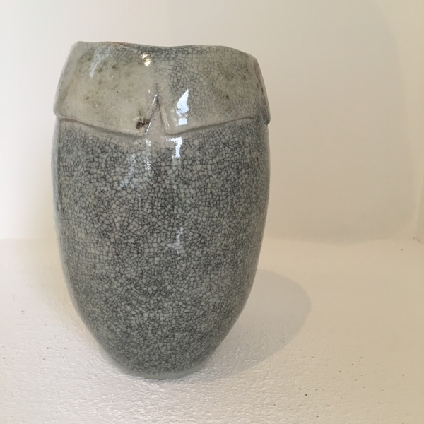 STONEWARE CRACKLE VESSEL