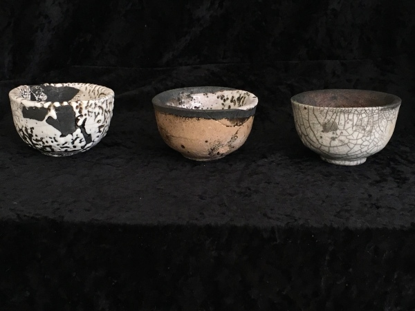 RAKU TEABOWLS 3 IN A ROW