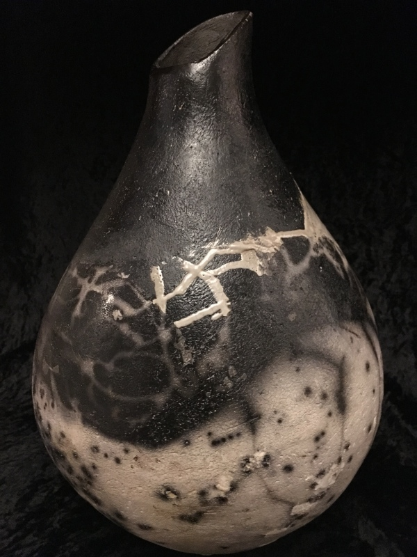LARGE VESSEL NAKED RAKU
