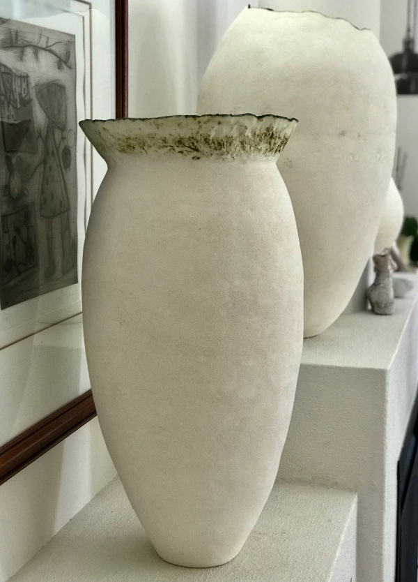 ORGANIC TALL VESSEL EW PATINA RIM