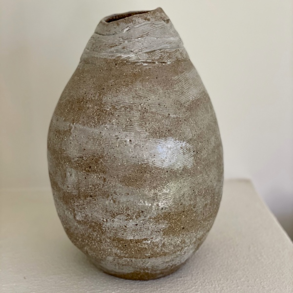 DARK STONEWARE FAT VESSEL