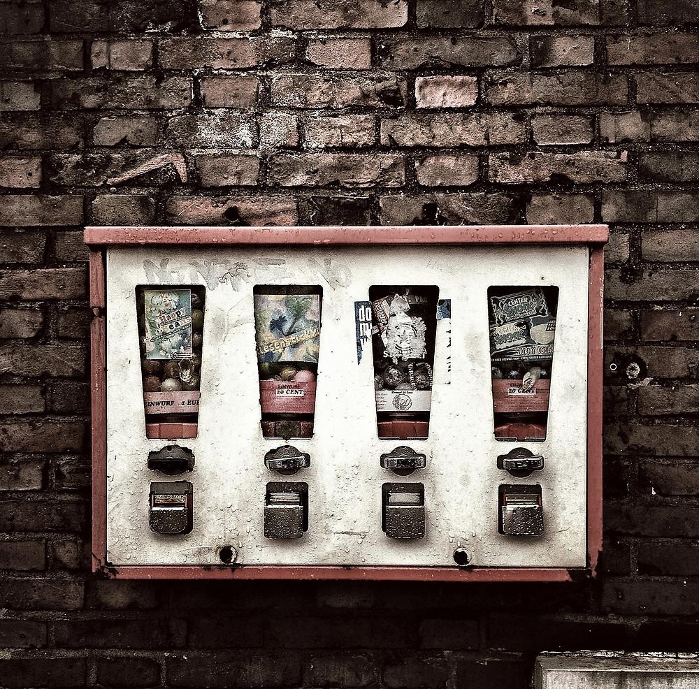 Kaugummiautomat von Thomas Ulrich auf Pixabay