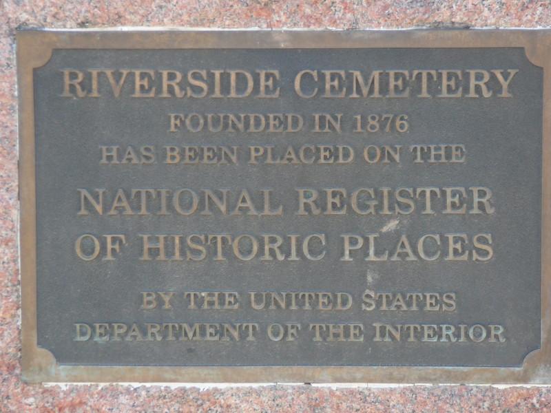 Riverside Cemetery Placard