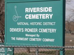 Riverside Cemetery Sign