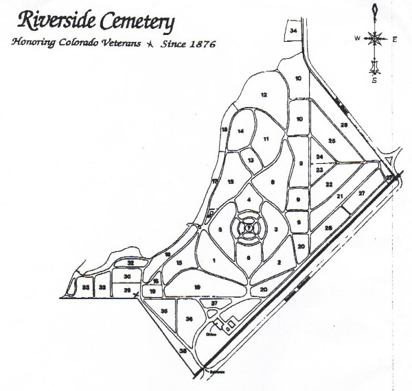 Riverside Cemetery Map