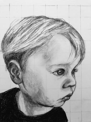 Finn in charcoal