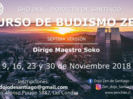 Séptima versión curso de Budismo Zen con el maestro Soko